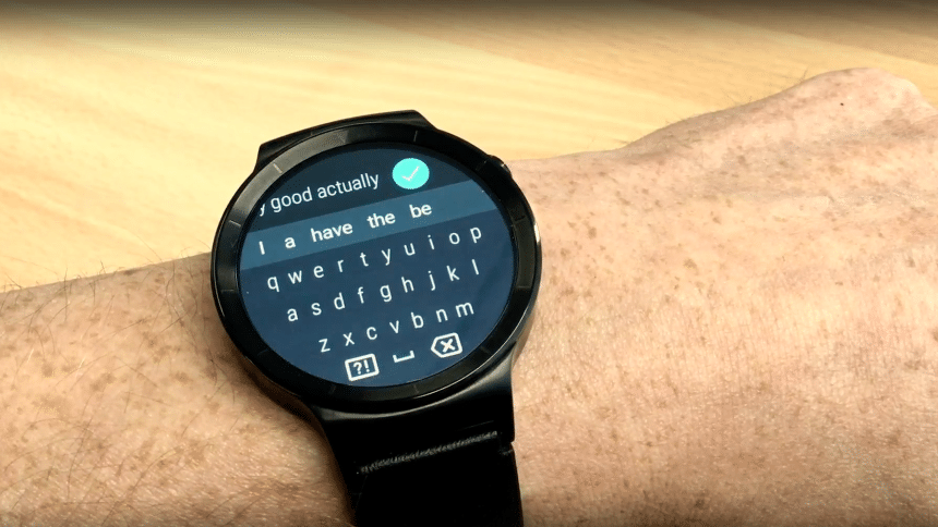 flat tire watch face with gboard in wear 2.0